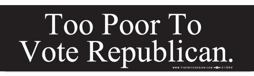 Too poor to vote republican