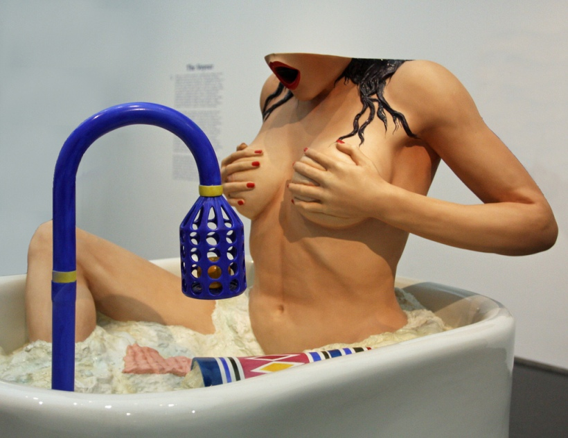 woman in tub by Jeff Koons