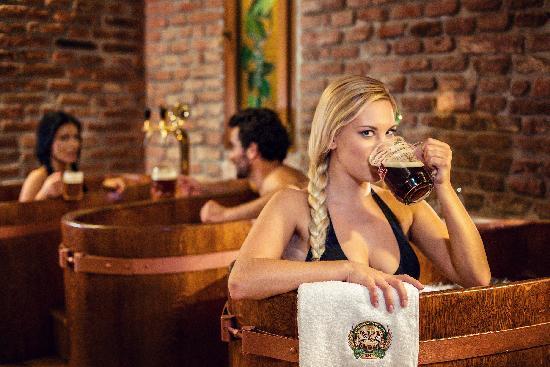 beer hot tub