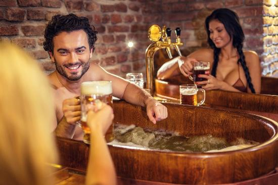 beer hot tub