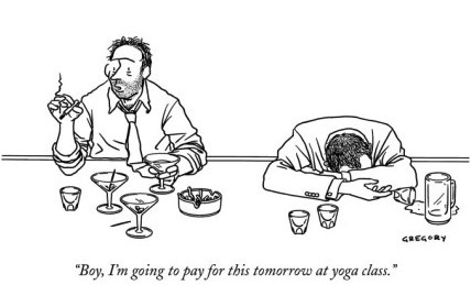 drinking before yoga by alex gregory