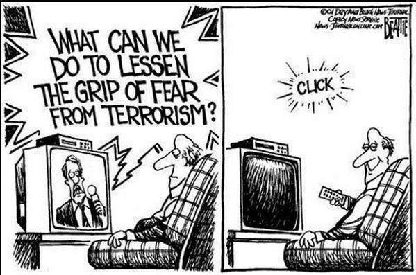 stop terror, turn off tv